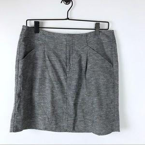 Ann Taylor Loft Linen pencil skirt grey size 8